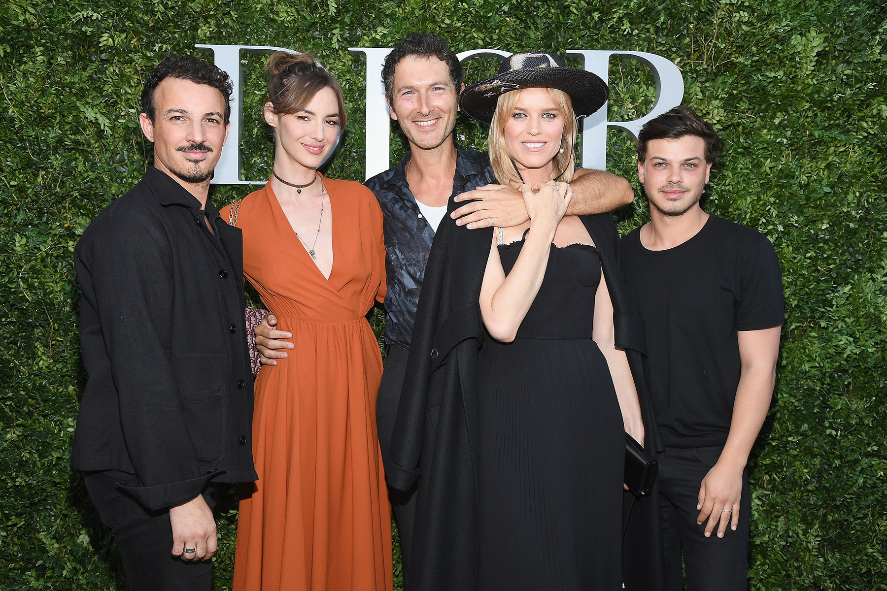 PARIS, FRANCE - JULY 03: (L-R) Nicolas Ouchenir, Louise Bourgoin, Simon Buret, Eva Herzigova and Hugo Matha attend 'Christian Dior, couturier du reve' Exhibition Launch celebrating 70 years of creation at Musee Des Arts Decoratifs on July 3, 2017 in Paris, France. (Photo by Pascal Le Segretain/Getty Images for Christian Dior) *** Local Caption *** Nicolas Ouchenir, Louise Bourgoin, Simon Buret, Eva Herzigova, Hugo Matha