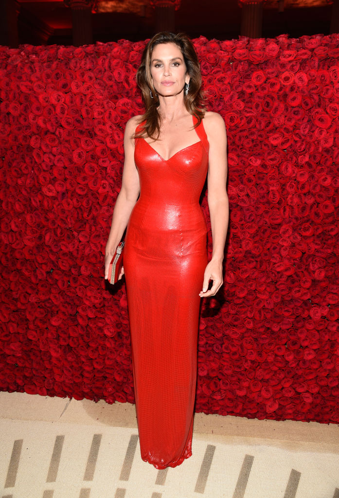 NEW YORK, NY - MAY 07:  Cindy Crawford attends the Heavenly Bodies: Fashion & The Catholic Imagination Costume Institute Gala at The Metropolitan Museum of Art on May 7, 2018 in New York City.  (Photo by Kevin Mazur/MG18/Getty Images for The Met Museum/Vogue)